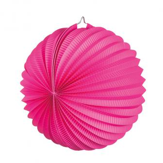 Lampion unicolore 23 cm - rose vif