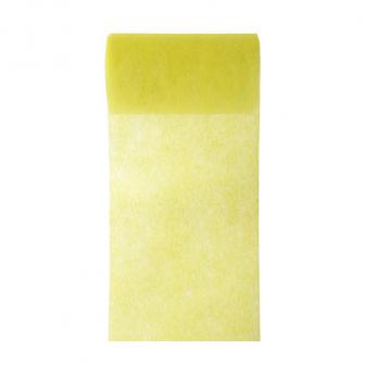 Chemin de table intissé unicolore 10 m - jaune