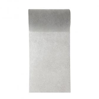 Chemin de table intissé unicolore 10 m - gris