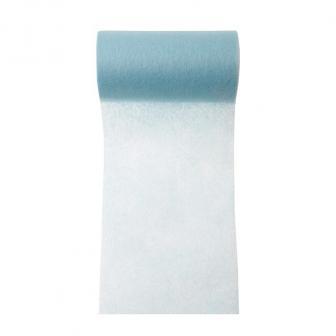 Chemin de table intissé unicolore 10 m - bleu clair