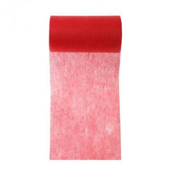 Chemin de table intissé unicolore 10 m - rouge