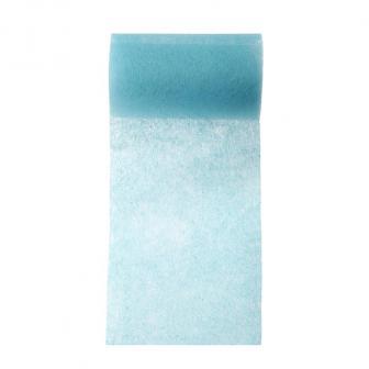 Chemin de table intissé unicolore 10 m - turquoise