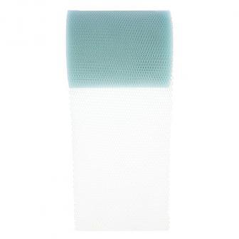 Ruban unicolore en tulle 10 m - bleu clair