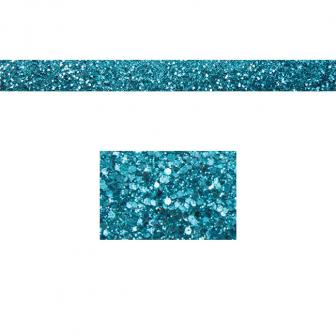 Ruban unicolore en paillettes 2 m - turquoise