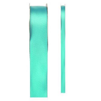 Ruban de déco en satin unicolore - vert menthe-15 mm