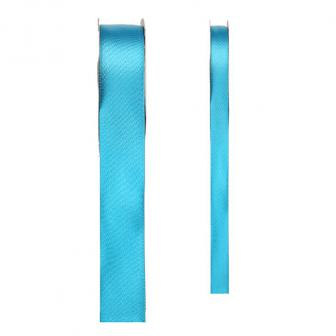 Ruban de déco en satin unicolore - turquoise-15 mm