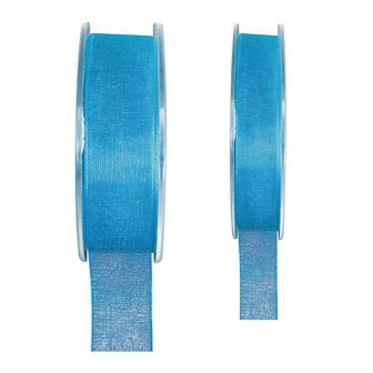 Ruban de déco Organdi unicolore - turquoise-15 mm