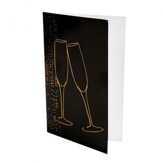 """6 cartons d'invitation ou menu """"Soirée de la St Sylvestre"""""""