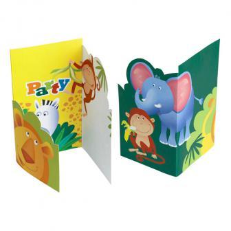 """6 cartons d'invitation """"En route pour l'aventure"""" avec enveloppes"""