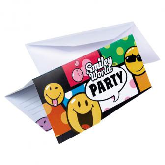 "6 cartons d'invitation ""Drôles de Smileys"""