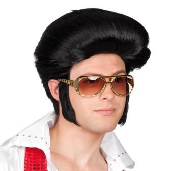 """Perruque avec rouflaquettes """"Elvis"""""""