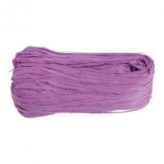 Raphia naturel coloré 50g - lilas