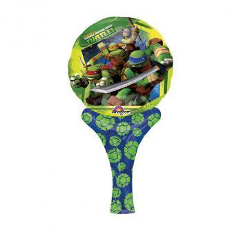 """Mini ballon en aluminium """"Tortues Ninja"""" 30 cm"""