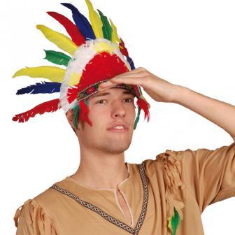"""Parure de plumes """"Chef Indien Sitting Bull"""""""