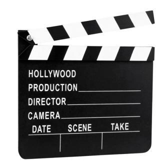Clap de cinéma Hollywood 20 x 18 cm