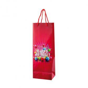 """Sac cadeau pour bouteille """"Happy Birthday"""" 36 cm"""