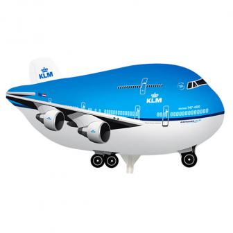 "Ballon en aluminium ""Avion"" avec tige 45 cm"