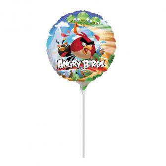 """Ballon en aluminium """"Angry Birds"""" 18 cm"""