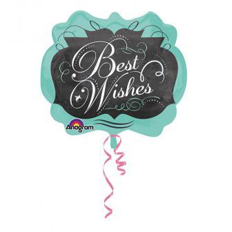 "Ballon en aluminium ""Best Wishes"" 63 x 55 cm"