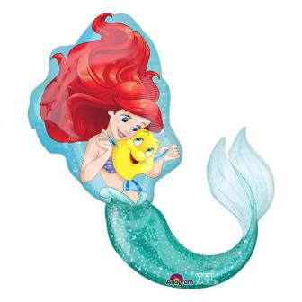 "Ballon en aluminium ""Ariel la petite sirène"" 86 cm"