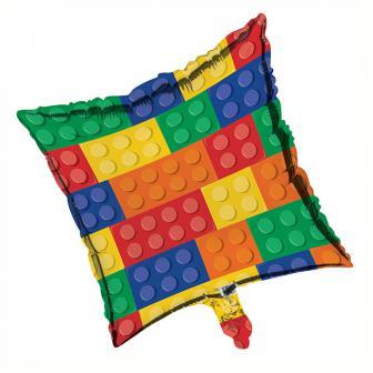 """Ballon en aluminium """"Briques colorées"""" 45,7 cm"""