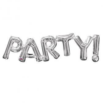 """Ballon en alu """"Party"""" 83 cm - argenté"""