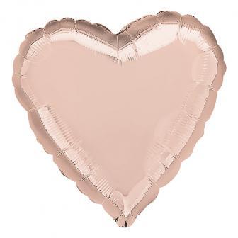 """Ballon en aluminium """"Coeur Rose"""" 43 cm"""