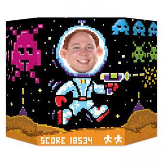 """Déco pour photo """"Astronaute pixéllisé"""" 94 x 64 cm"""
