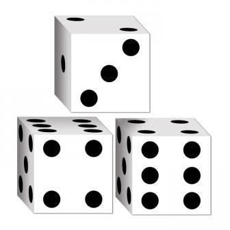 """3 mini boîtes surprises """"Dés"""" 8 cm"""