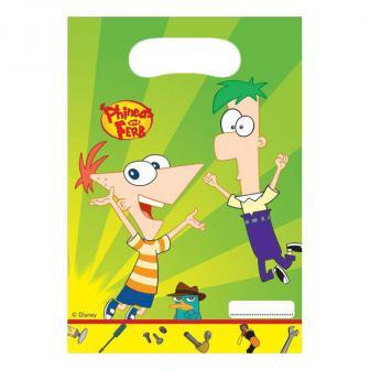 """6 pochettes surprises """"Phineas et Ferb"""""""