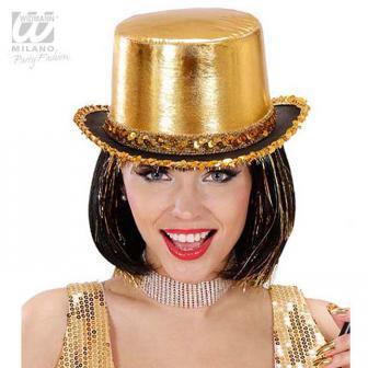 """Chapeau brillant avec paillettes """"Showstar"""" - doré"""