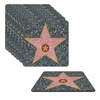 8 dessous-de-verre Walk of Fame 9 cm