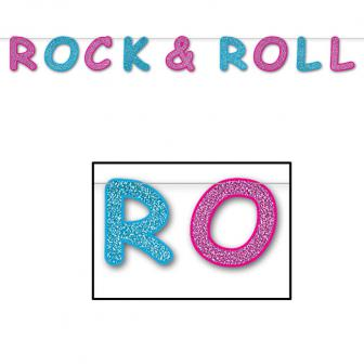 "Guirlande brillante ""Rock & roll"" 2,4 m"