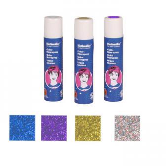 Spray à paillettes pour cheveux lavable 100 ml - multicolore