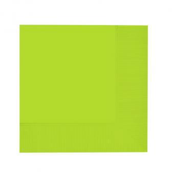 20 serviettes unies - vert