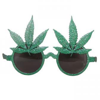 """Lunettes """"Feuilles de cannabis brillantes"""""""
