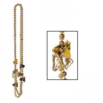 "2 colliers ""Chevaux en or"""