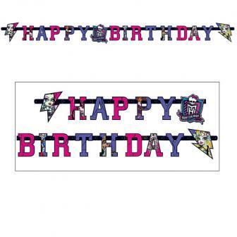 """Guirlande Happy Birthday """"Monster High Girls"""" 1,80 m"""