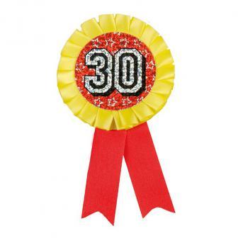 """Cocarde holographique """"30. anniversaire"""" 16 cm"""