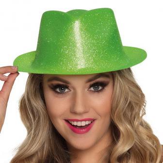 """Chapeau """"Paillettes"""" - vert néon"""