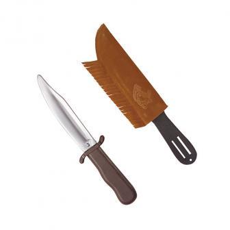Couteau d'indien avec étui en imitation cuir 28 cm