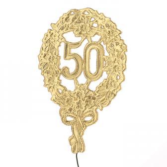 """Décoration Jubilé & anniversaire """"50"""" 12,5 cm"""