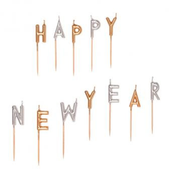 "Bougies ""Happy New Year"" 12 pcs"