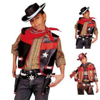 """Costume pour enfant """"Wild Cowboy"""" 4 pcs."""