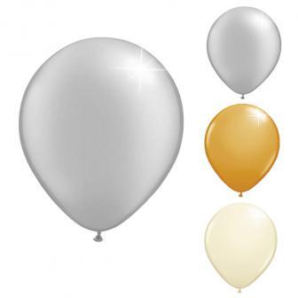 20 petits ballons de baudruche métallisés