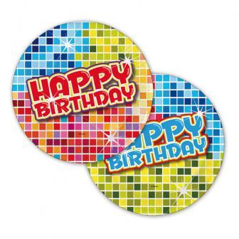 "Petites assiettes en carton ""Happy Crazy Birthday"" 6 pcs"