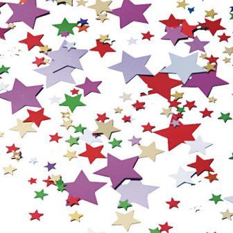 """Confettis """"Étoiles multicolores"""" 15 g"""