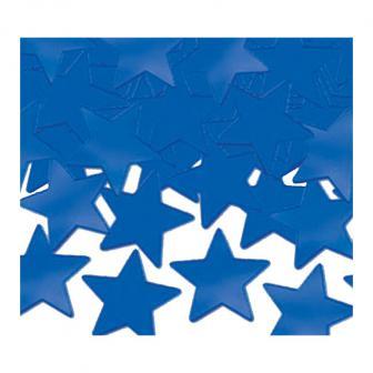 """Confettis """"Étoiles unicolores"""" 28 g - bleu"""