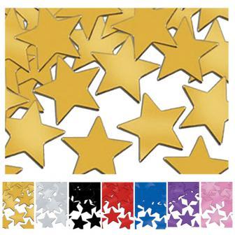 """Confettis """"Étoiles unicolores"""" 28 g"""