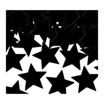 """Confettis """"Étoiles unicolores"""" 28 g - noir"""